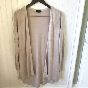 The Limited Heathered Cream Open Cardigan M